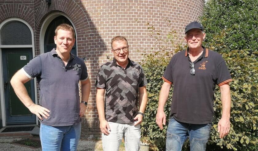De initiatiefnemers van de samenwerking, Richard Grevelink, Ronnie Konniger en Marcel Stroet. Foto Rob Weeber
