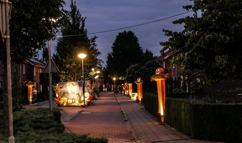 Vorig jaar won de Beatrixlaan de Achterhoek Nieuws Stratenprijs voor de mooiste en sfeervolle straatverlichting tijdens de Septemberfeesten. Foto: Achterhoekfoto/Johan Braakman