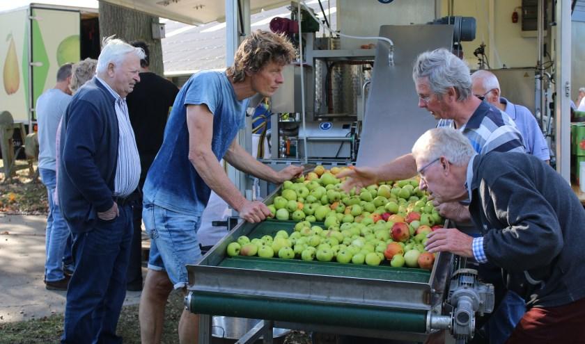 Laat fruit persen of kom kijken tijdens de Fruitpersdag. Foto: PR