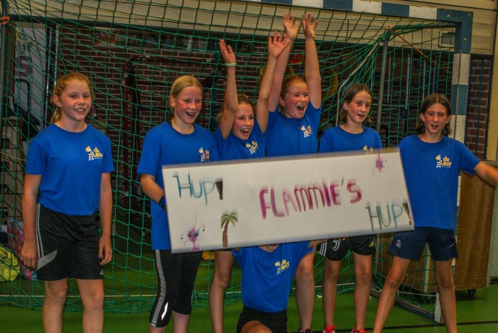 De winnaar bij de meisjes was team Flammies van Basisschool De Leer. Foto: PR  © Achterhoek Nieuws b.v.