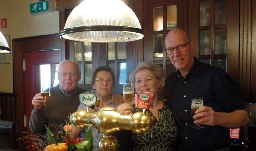 Van links naar rechts Gerrit, Jo, Ilse en Geert van Tuil. Foto: Jan Hendriksen