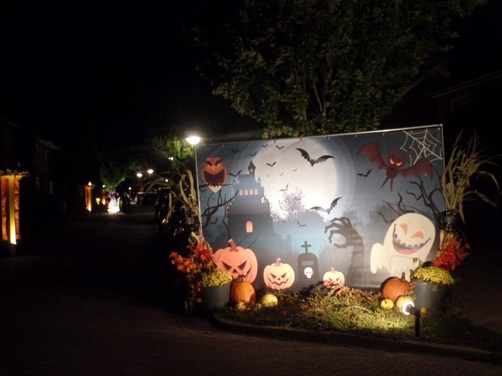 Het thema Halloween was dit jaar verder uitgewerkt door de bewoners van de Beatrixlaan. Foto: Jan Hendriksen.   © Achterhoek Nieuws b.v.