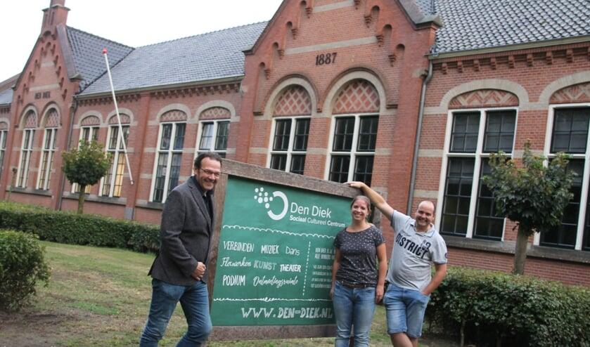 De nieuwe aspirant-bestuursleden van Den Diek. Vlnr: Freek Jansen, Femke Dusseldorp en Jeroen Dusseldorp. Foto: Annekée Cuppers