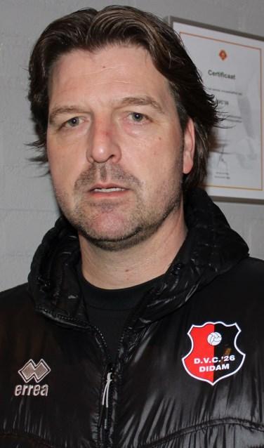 Edwin Hoogerdijk, hoofdtrainer van DVC`26.Foto: John van der Kamp
