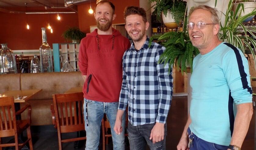 V.l.n.r.: Thomas, David en Frank Loef. Foto: Meike Wesselink