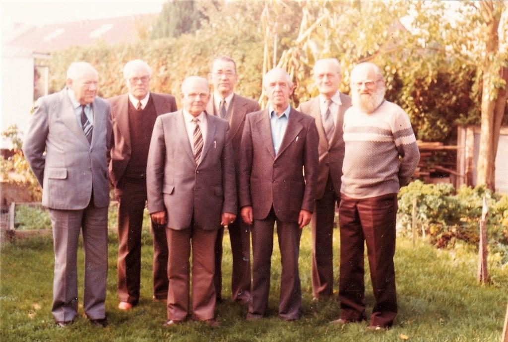 Oprichters van DITO met vlnr Hendrik Huitink, Hendrik Overkemping, Herman ter Bogt, Herman Bouwhuis, Theo (Piet) van Dongeren, Henk Smit en Willem Bonenkamp. Foto: Archief  © Achterhoek Nieuws b.v.