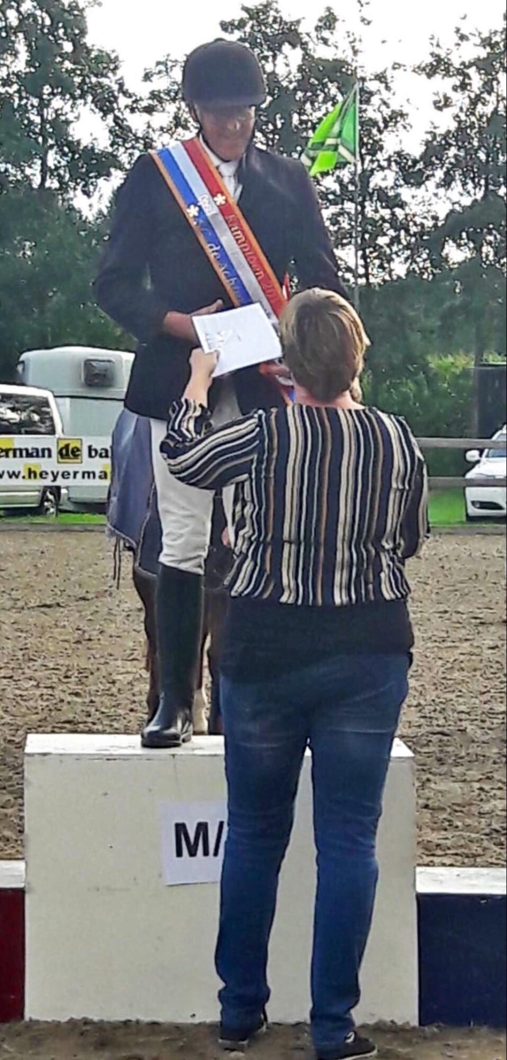Jan won de eerst prijs. Foto: PR