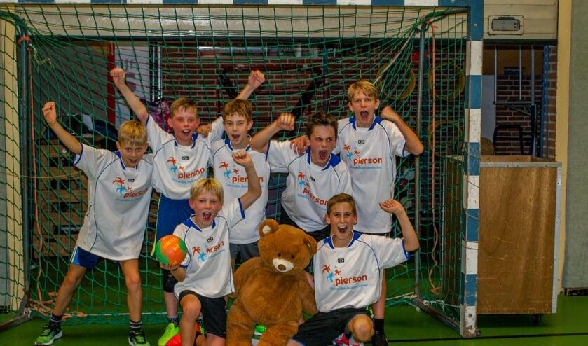 De winnaar bij de jongens was het team Pierson Army van de Piersonschool. Foto: PR