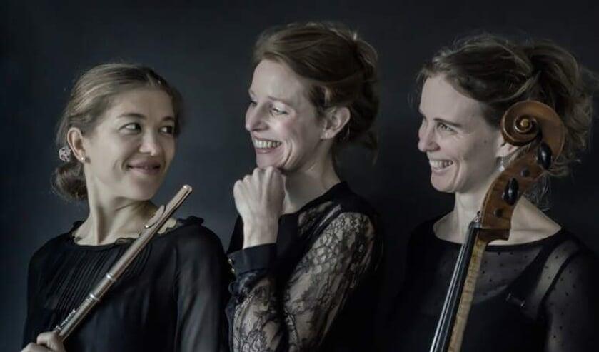 Trio Mirach verzorgt het laatste boerenerfconcert van Paaspop Klassiek. Foto: PR