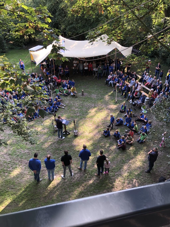 Mooi zicht vanaf de bovenste etage van de speeltoren. Foto: Kyra Broshuis  © Achterhoek Nieuws b.v.