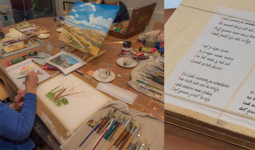 Diverse creatieve activiteiten in Open Atelier van de KunstKring. Foto: PR