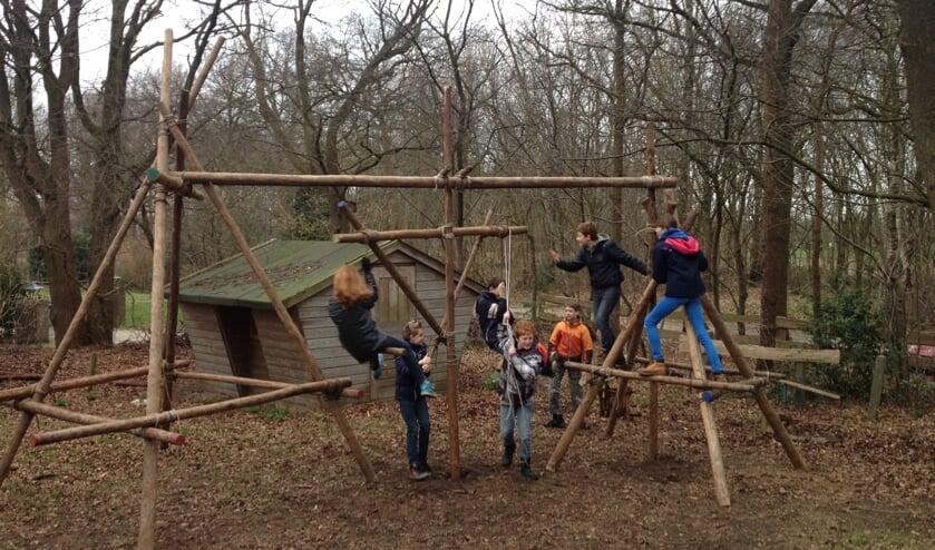 Tijdens de open dag van Scouting Ruurlo kan er volop geklauterd en gespeeld worden. Foto: PR