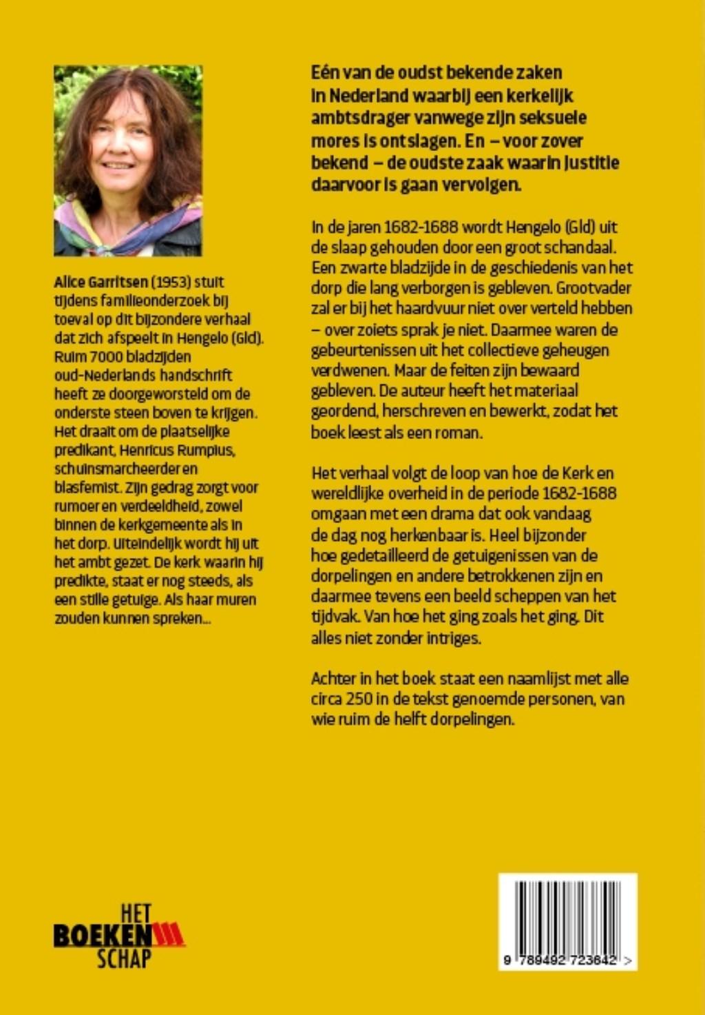 Cover, achterkant, van het boek van Alice Garritsen. Foto: PR Het Boekenschap  © Achterhoek Nieuws b.v.