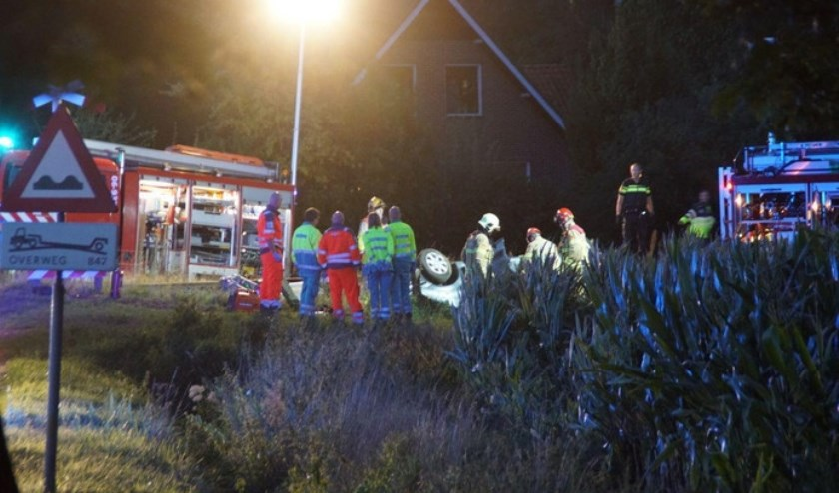 Veel hulpdiensten na ongeluk. Foto: 112nieuws