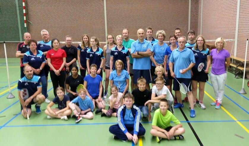 De badmintonners van Berkelland en Oost Gelre werken samen. Foto: PR