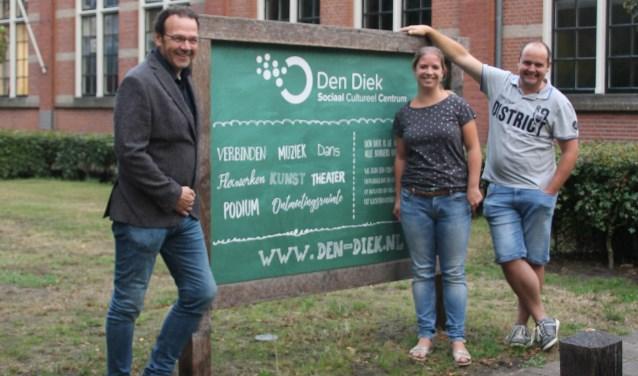 Drie nieuwe aspirant-bestuursleden voor Den Diek. Vlnr: Freek Jansen, Femke Dusseldorp en Jeroen Dusseldorp. Foto: Annekée Cuppers  © Achterhoek Nieuws b.v.