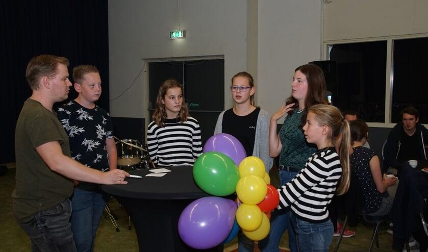 Fanfaretalenten overleggen. Foto: Frank Vinkenvleugel