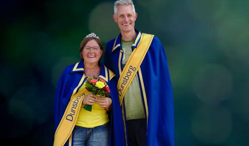 Het nieuwe koningspaar van de Dunsborg: Bertil Muller en Jacolien Reurink. Foto: Toon Roelofsen
