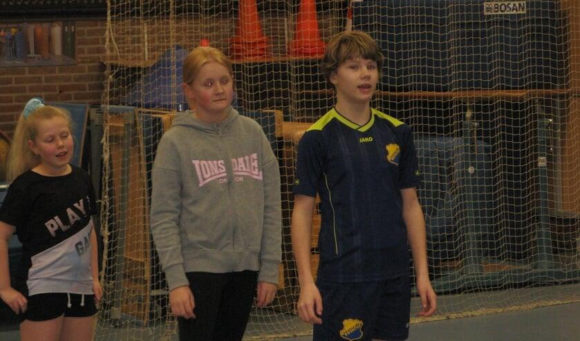 Juliette (midden) tijdens de training van het E- en D-team van Wiko. Foto: Bart Kraan