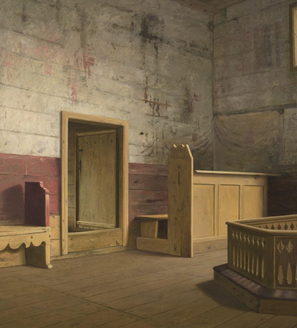 Het koor van de staafkerk in Kvernes in Noorwegen. Foto: PR  © Achterhoek Nieuws b.v.