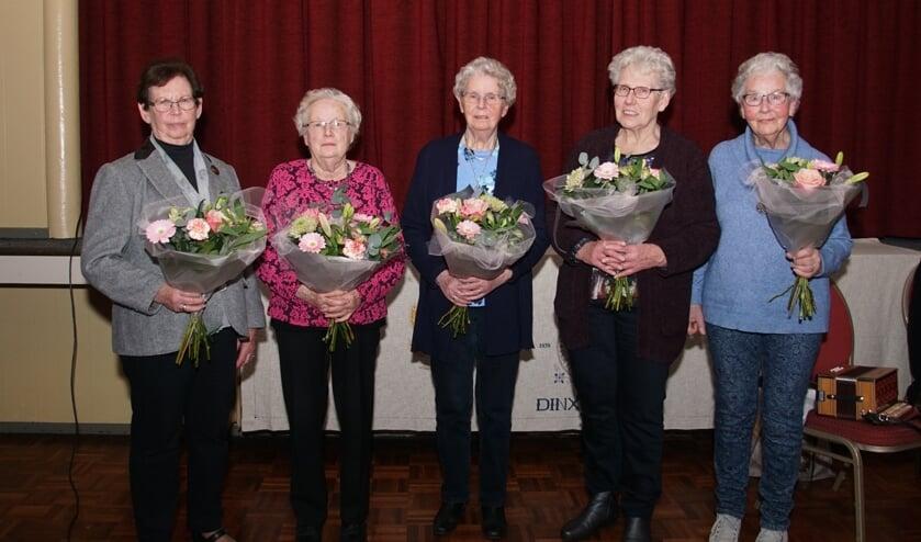 De jubilarissen van de Vrouwen van Nu. Foto: Frank Vinkenvleugel