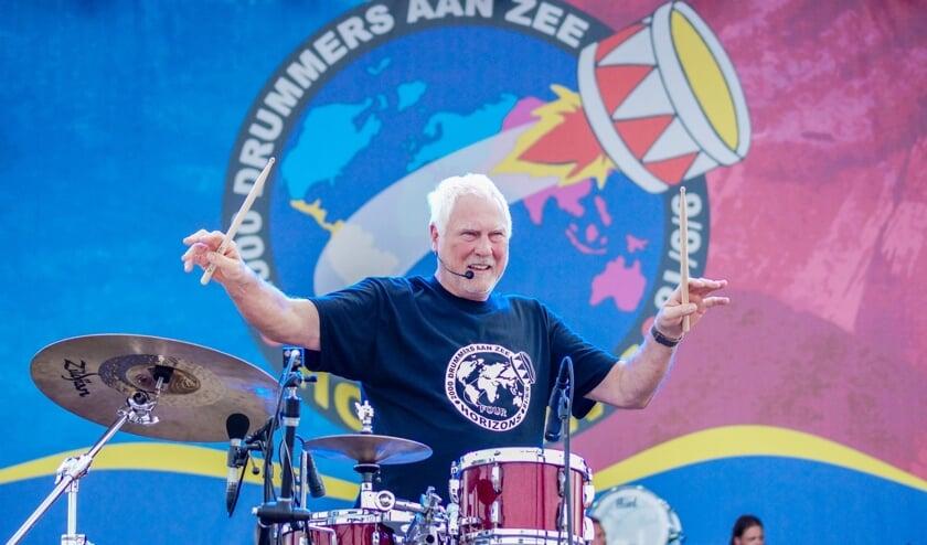 Cesar Zuiderwijk, drummer van de Haagse rockband Golden Earring. Foto: PR