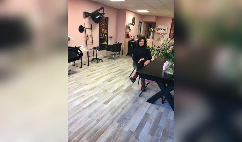 Foto: Ellen Evers in haar nieuwe Salon Ellen. Foto: PR