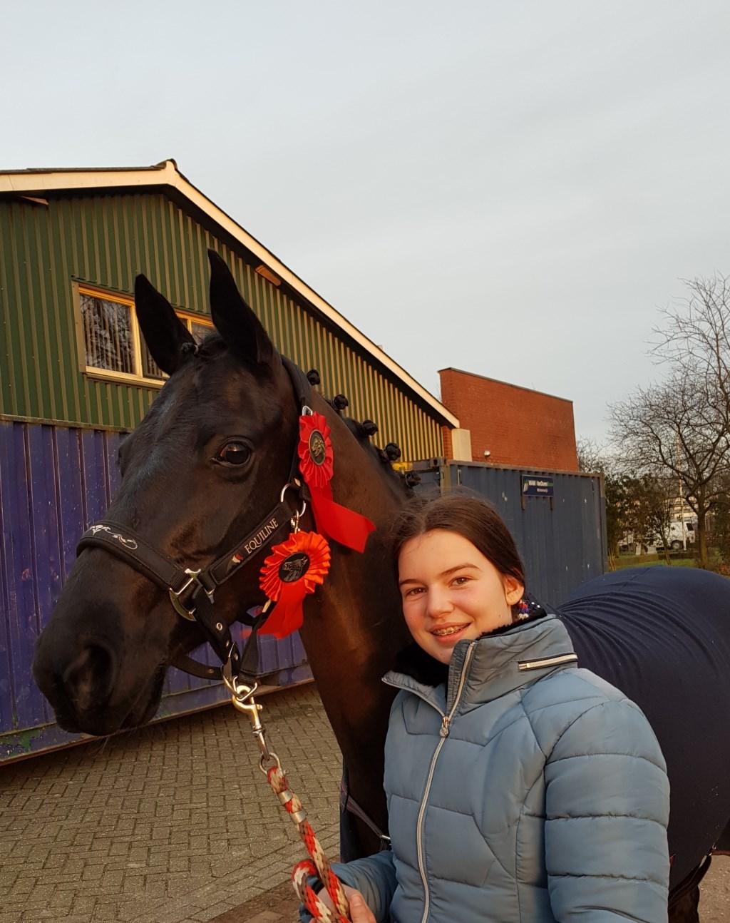 Anouk Kempers met Equitalle Foto: eigen foto © Achterhoek Nieuws b.v.