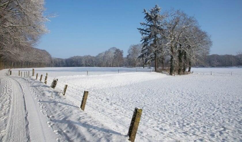 Of er sneeuw zal liggen is de vraag, maar mooi om te wandelen is het zeker rond Vragender. Foto: PR