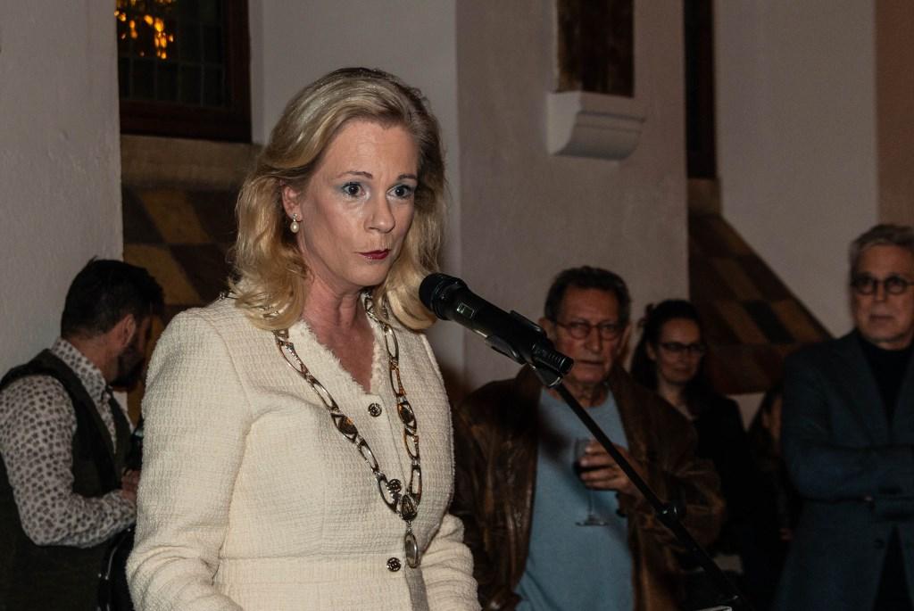 Burgemeester Annemieke Vermeulen houdt een nieuwjaarstoespraak. Foto: Henk Derksen  © Achterhoek Nieuws b.v.
