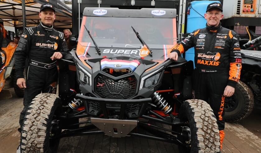 Jurgen van den Goorbergh (l.) en Kees Koolen (r.) rijden Dakar Rally. Foto: Kees Siroo