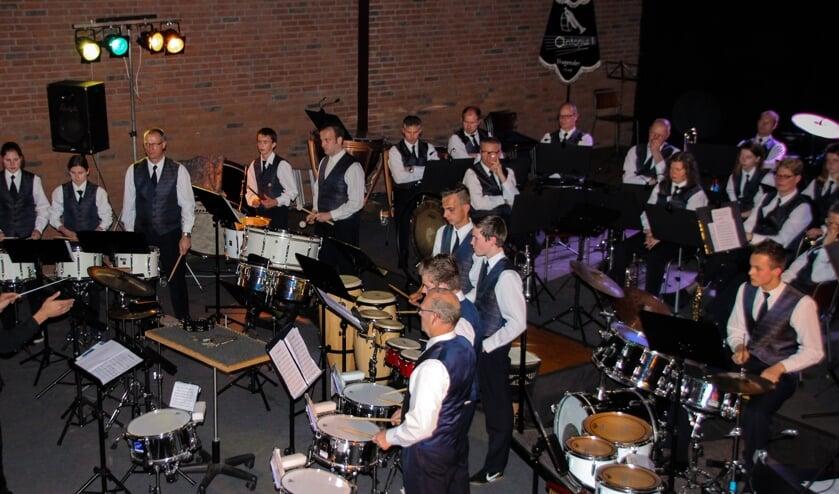 Fanfare & slagwerkgroep Antonius tijdens voorjaarsconcert 2017. Foto: Suzanne Spexgoor