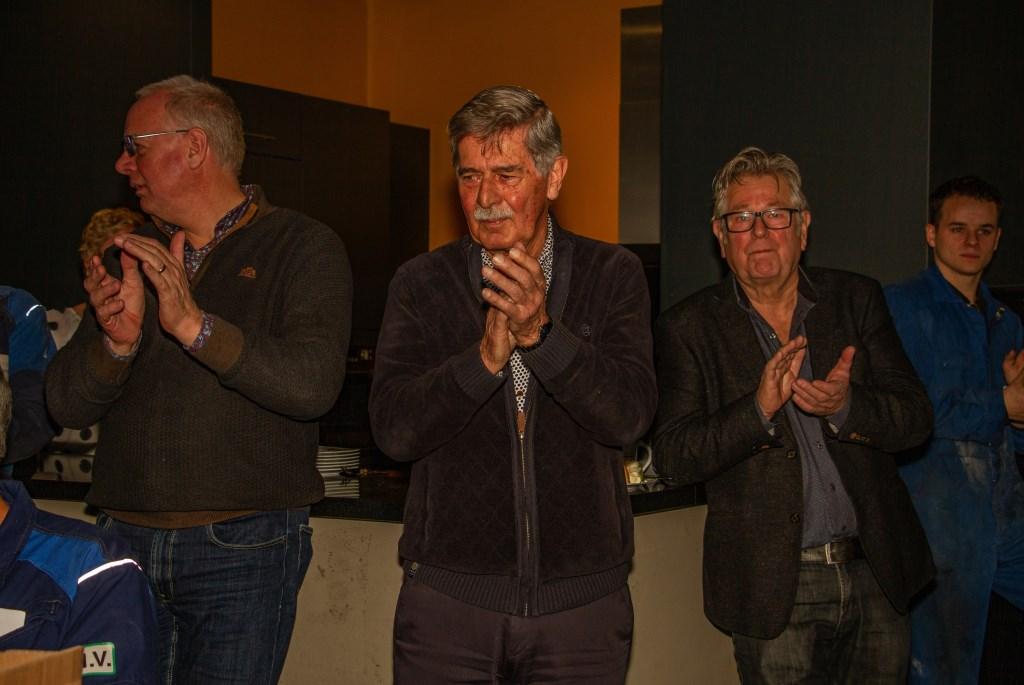 Henk Wissink en Paul Rutten vieren 40-jarig jubileum bij Reesink Productions. Foto: Liesbeth Spaansen  © Achterhoek Nieuws b.v.