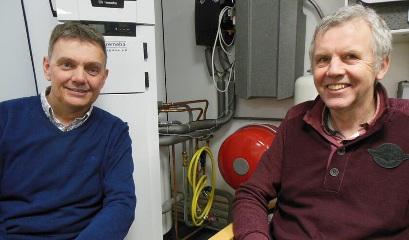 """Paul Bombeld (links) en Jan Fikken zien de toekomst van waterstof rooskleurig in: """"Deze brandstof is niet gevaarlijker dan aardgas. Wel schoner."""" Foto: Eric Klop"""