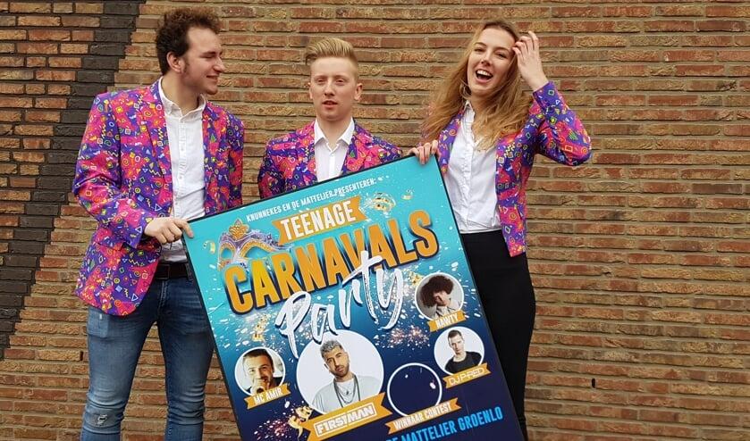 Op de foto vlnr Corné Prins, Menno Huisman en Meg Nijenhuis.