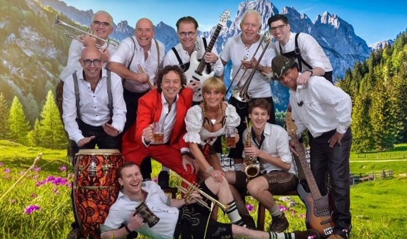 De topband Alpenparty. Foto: PR