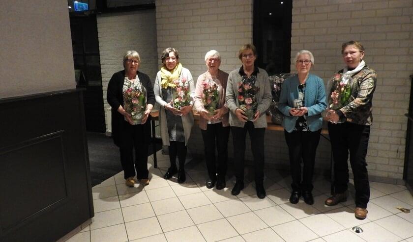 De zes jubilarissen van VCV. Foto: PR