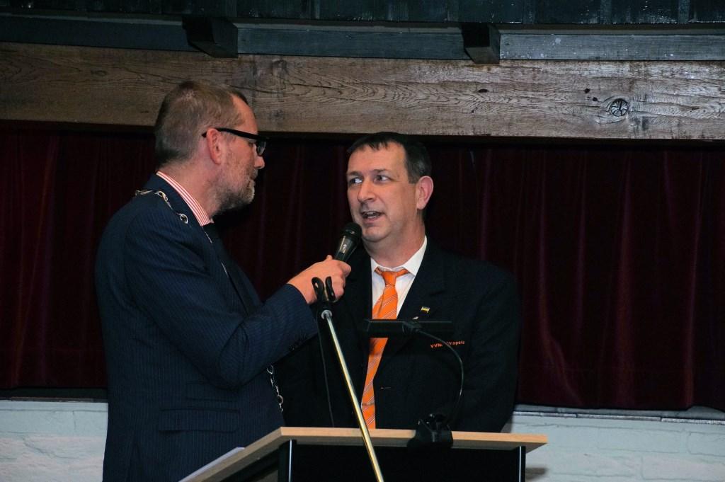 Arjan Bruggink spreekt over de VVNF. Foto: Frank Vinkenvleugel  © Achterhoek Nieuws b.v.