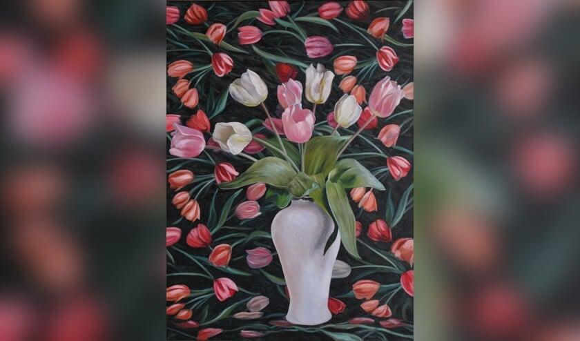 <p>Kunstwerk &#39;Tulpen&#39; van Theo Leijdekkers. Foto: Kunst of Art</p>