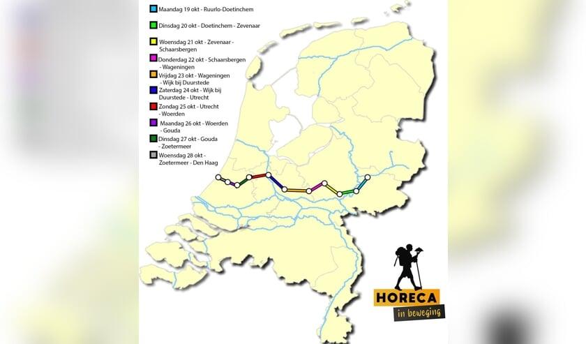 <p>De route van Horeca in Beweging. Afbeelding: PR</p>