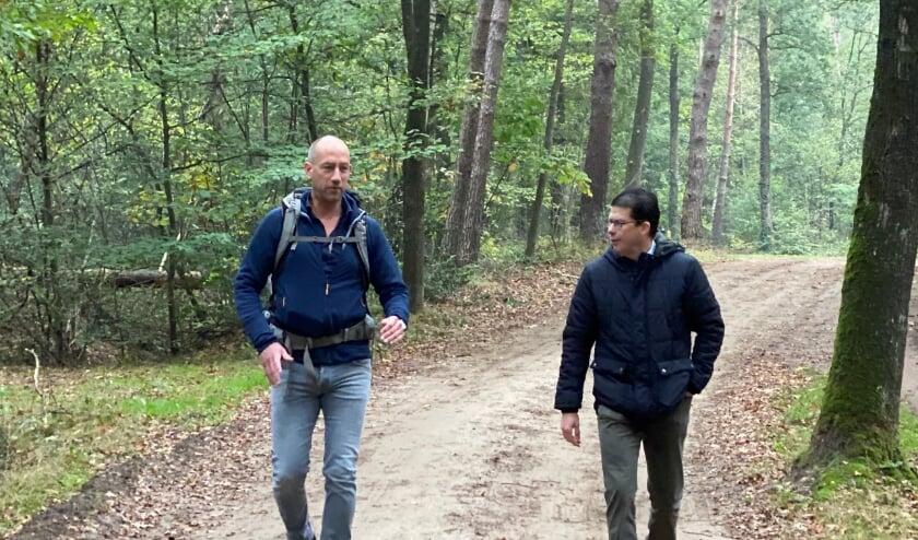 <p>Onderweg samen met Joost van Oostrum. Foto: eigen foto</p>