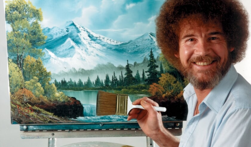 <p>Bob Ross. ® Bob Ross name and images are registered trademarks of Bob Ross Inc. © Bob Ross Inc. Used with permission.</p>