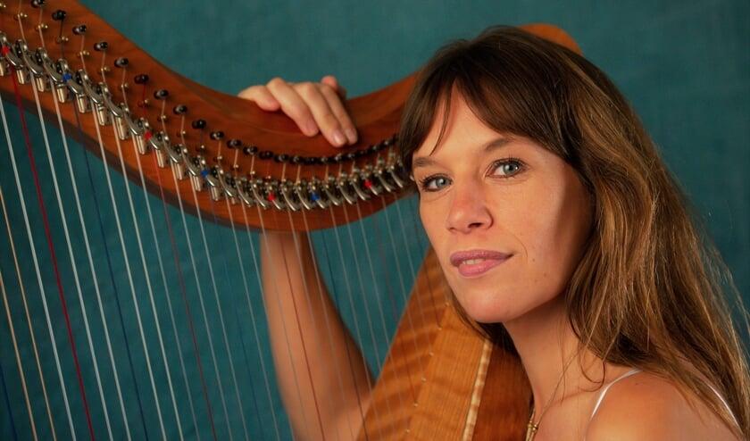 <p>De Zutphense harpiste Dani&euml;lle van Driel is zondag te zien in het tv-programma Iedereen Verlicht. Foto: Ruud Kronenburg&nbsp;</p>