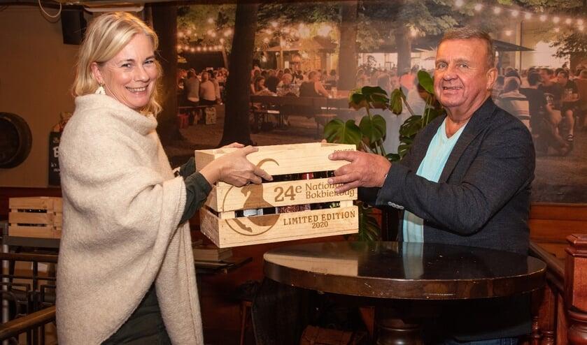 Burgemeester Annemieke Vermeulen en Cor ten Barge. Foto's: Willem Feith
