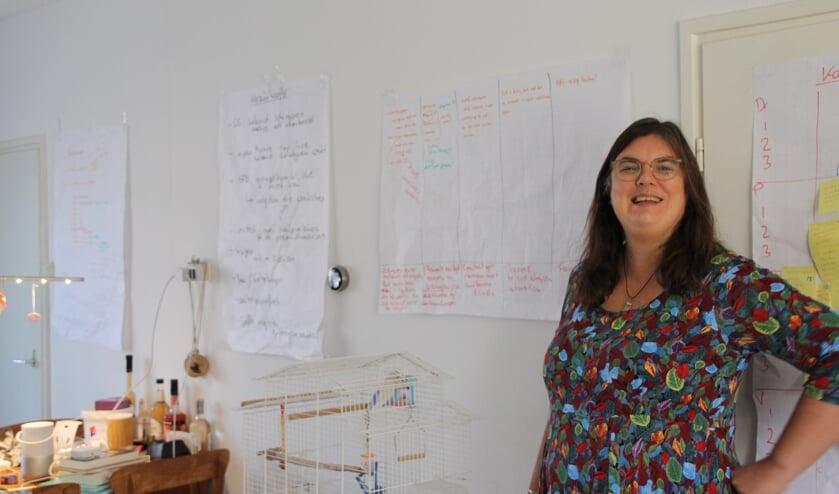 Een wand vol schema's. Foto: Annekée Cuppers