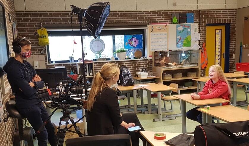 Een interview voor de camera. Foto: Sonja Grooters