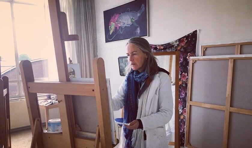 Irmgard Lamers in haar atelier. Foto: PR