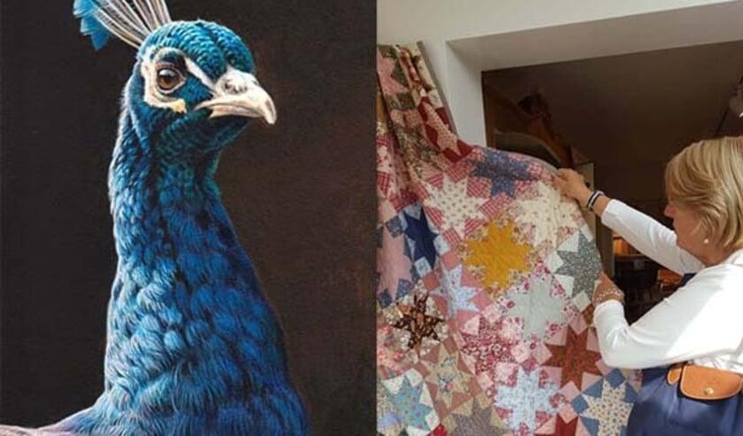 <p>Patchwork en Drybrushen met kleur bij de KunstKring Ruurlo. Foto: PR</p>