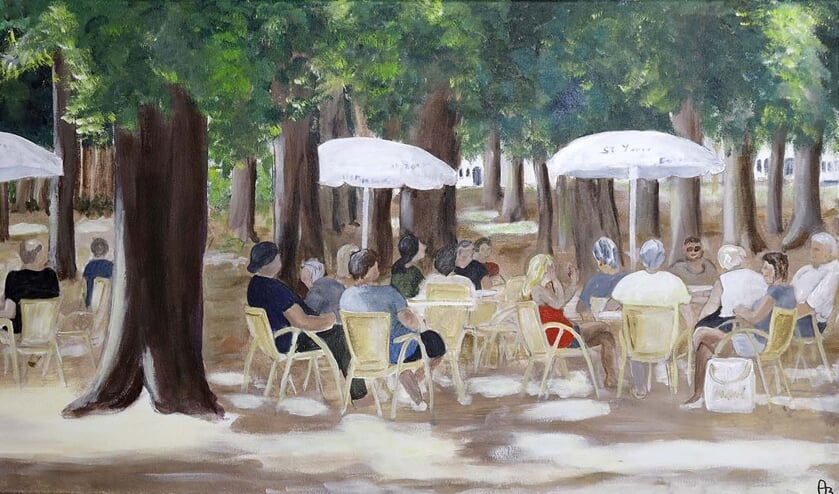 <p>Een schilderij van Anke Brummelman. Foto: PR</p>