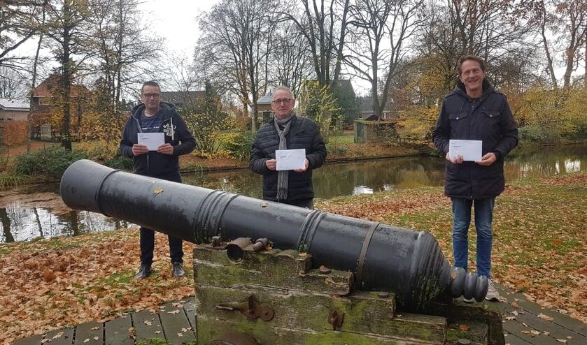 <p>Winnaars Henk Geurkink, Dicky Dibbets en Ivo te Kortschot. Foto: PR GHV</p>
